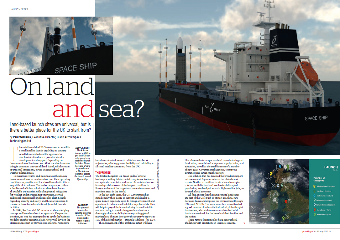 Spacelight Magazine article - On Land and Sea